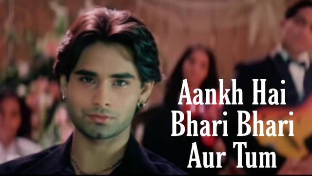 Aankh Hai Bhari Bhari Aur Tum Song Image - LyricsSawan