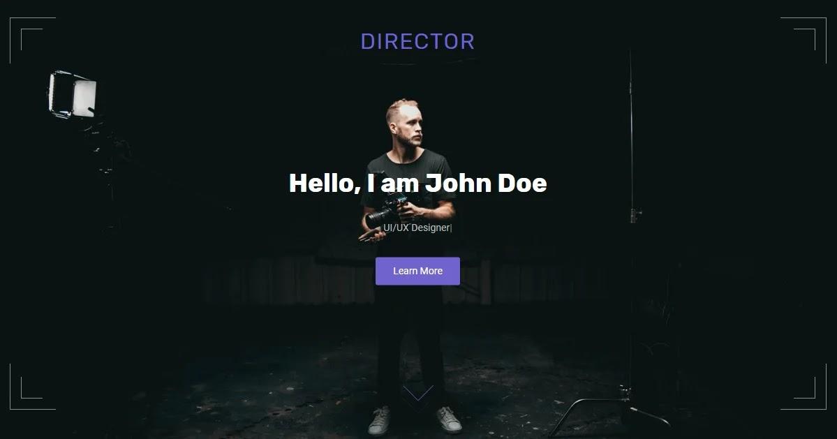 Director Blogger Template • Portfolio Blogspot Templates 2020