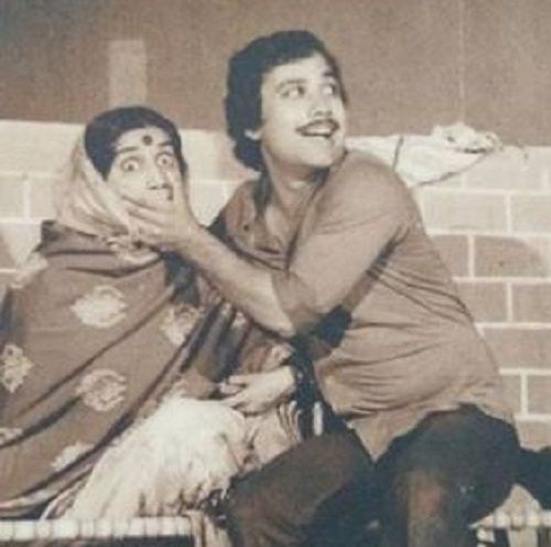 Seema Pahwa With Manoj Pahwa in a Theatre Play