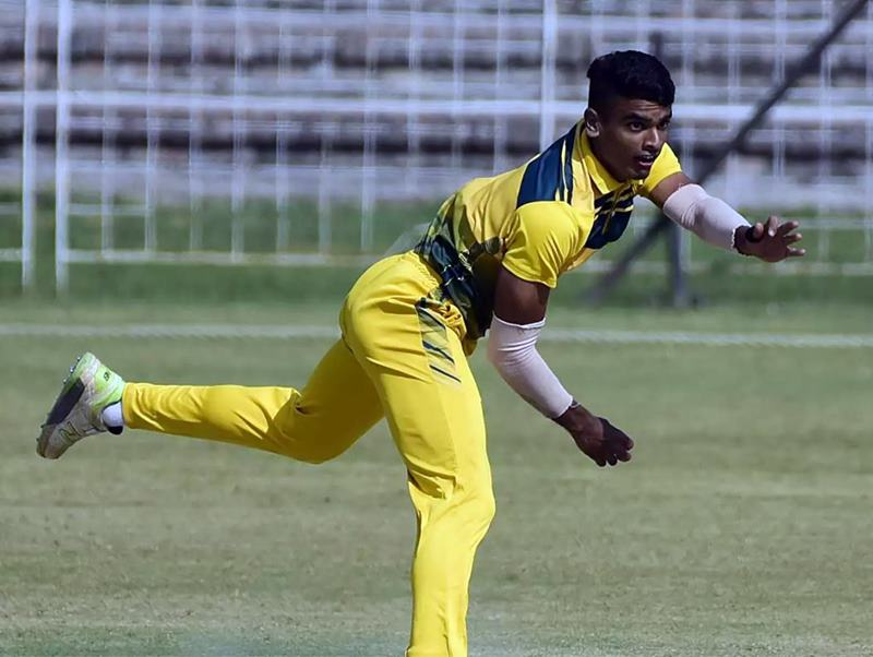 Digvijay Deshmukh in action during a match of Syed Mushtaq Ali Trophy 2019-20