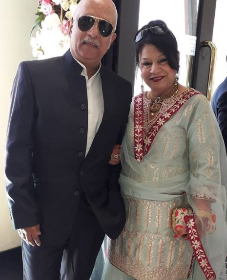 Rajesh Puri with his wife