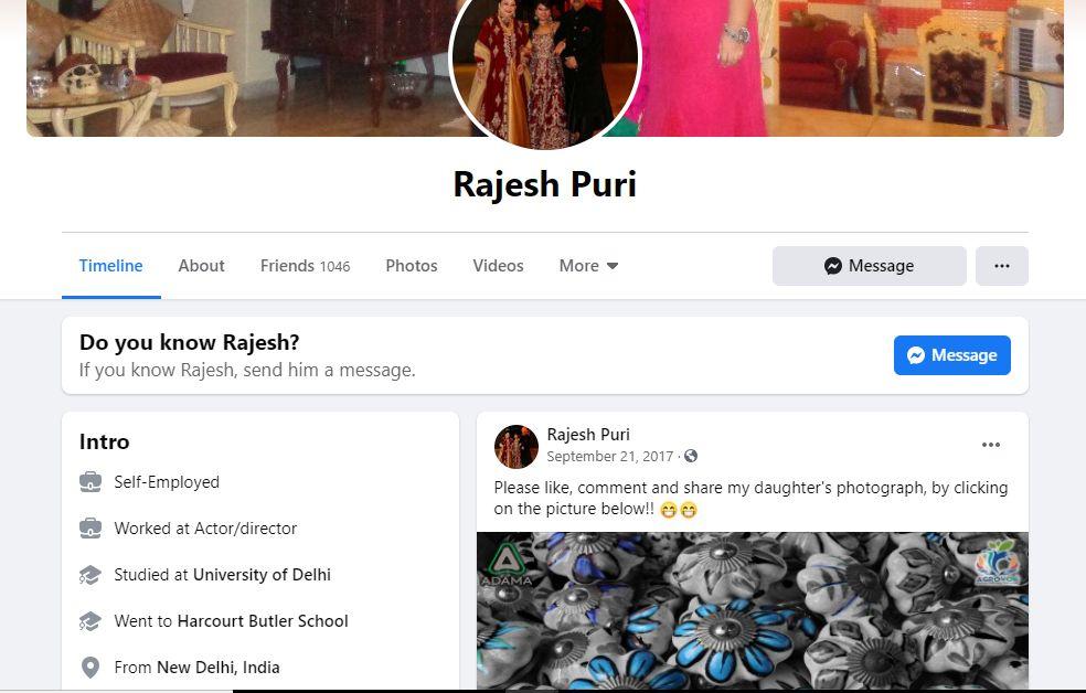 Rajesh Puri's Facebook Profile