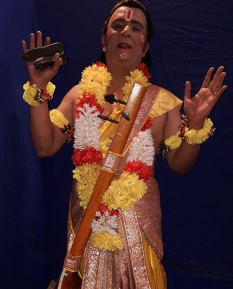 Rajesh Puri dressed as Narad