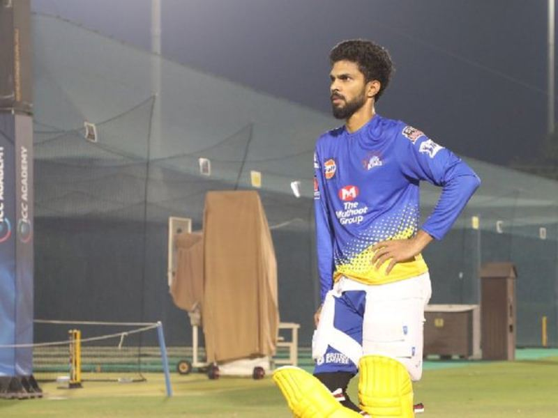 Ruturaj Gaikwad during a practice session after his recovery from Covid-19