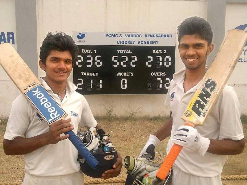 Ruturaj Gaikwad during a local cricket tournament of his academy