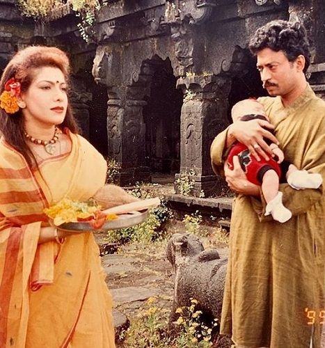 Divya Seth With Irrfan Khan in a TV Show