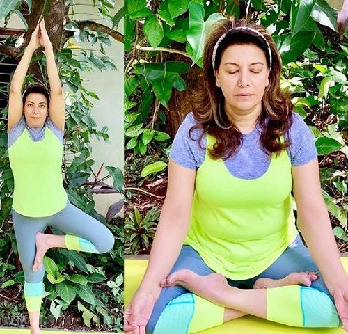 Divya Seth Practicing Yoga