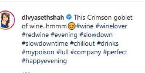 Divya Seth's Post About Wine