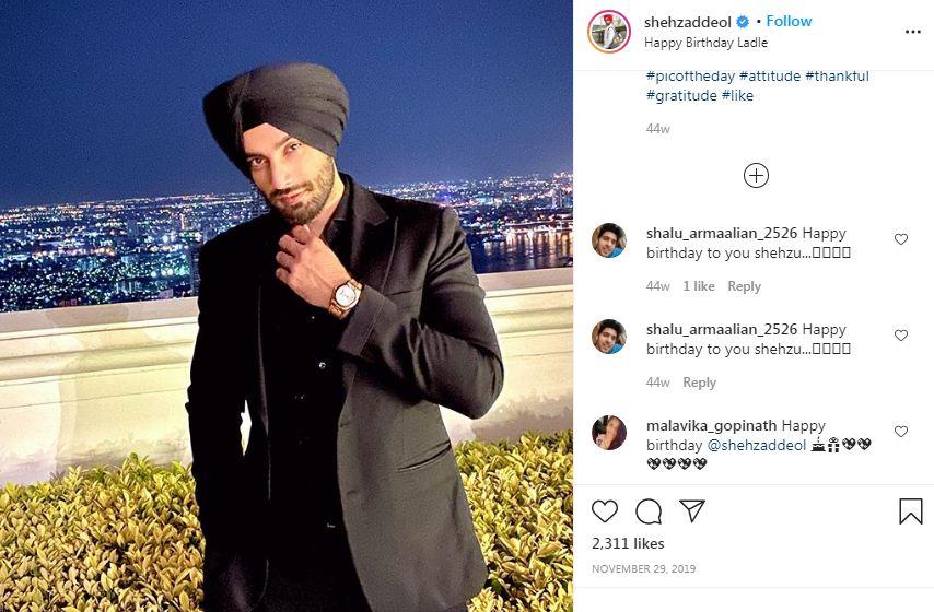 Shehzad Deol's Instagram Post