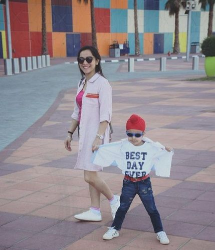 Dietitian Lavleen Kaur With Her Son