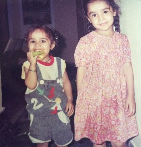 Lavleen Kaur (elder one on right) With Younger Brother Gurleen Singh (on left)