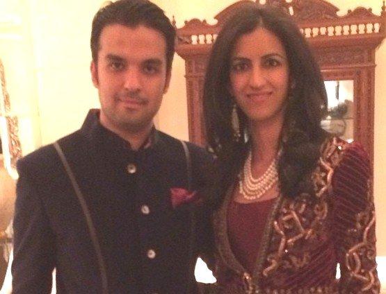 Gautam Kitchlu with his sister