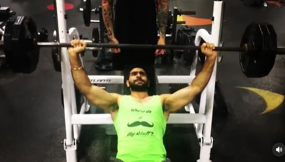 Tushar Kumar in the gym