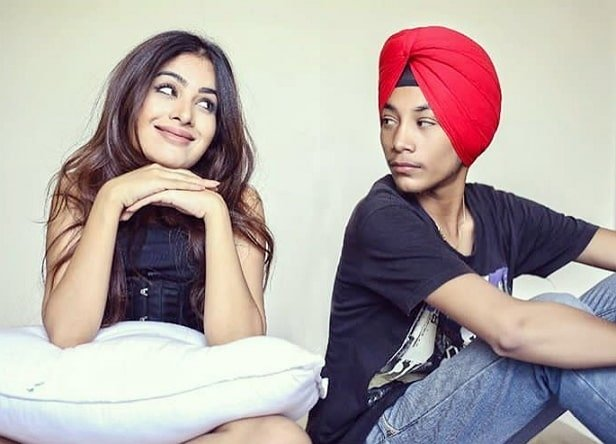 Sara Gurpal with her brother