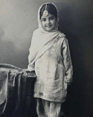 Sara Gurpal in childhood