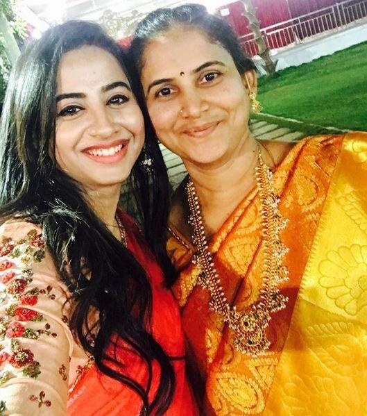 Swathi Deekshith with her mother