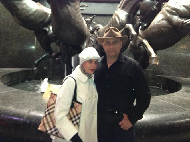 Deepali Issar With Puneet Issar