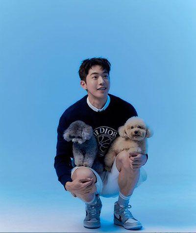 Nam Joo-hyuk with his Pet Dogs