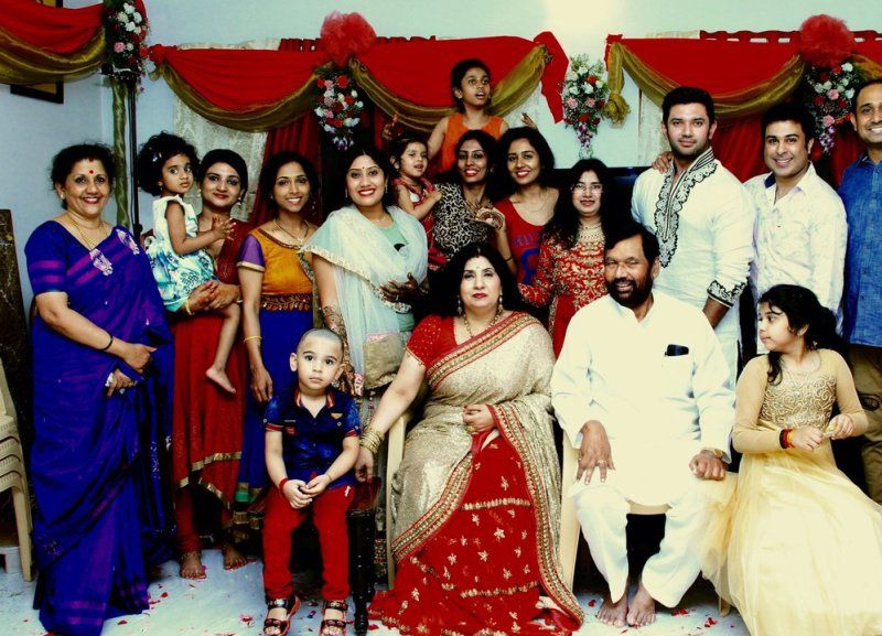Reena Paswan and Ram Vials Paswan with their family