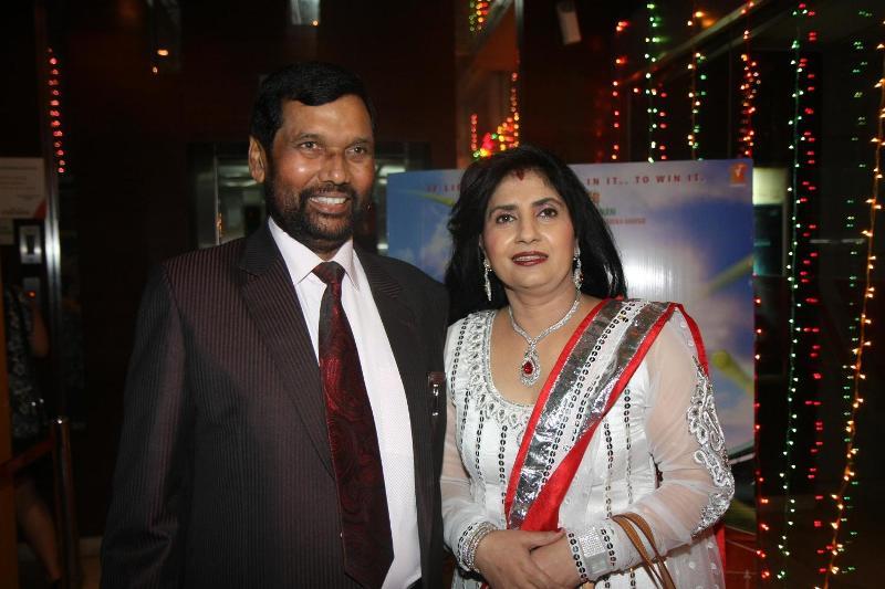 Reena Paswan with Ram Vilas Paswan