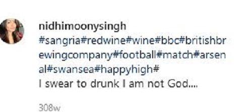 Nidhi Moony Singh's Instagram Post