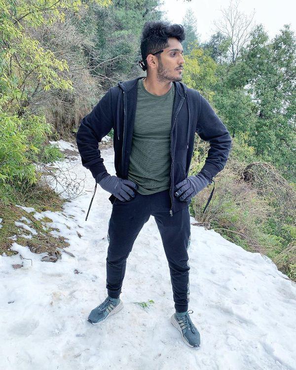 Tushar Deshpande on a trip to mountains