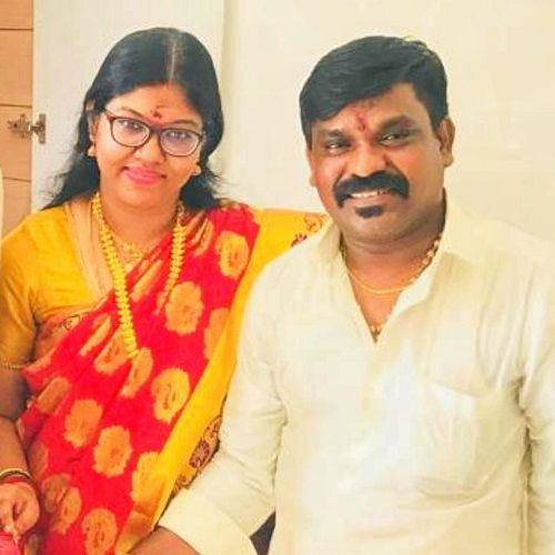 Velmurugan With His Wife
