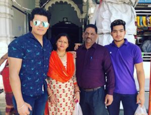 Anuj Rawat with his family
