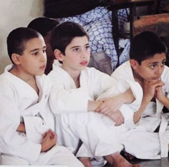 Kevin Almasifar during his first martial arts tournament