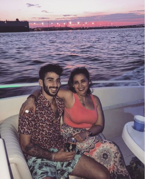 Kevin Almasifar with his mother