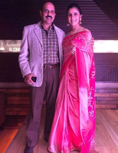Srishti Sudhera with her father