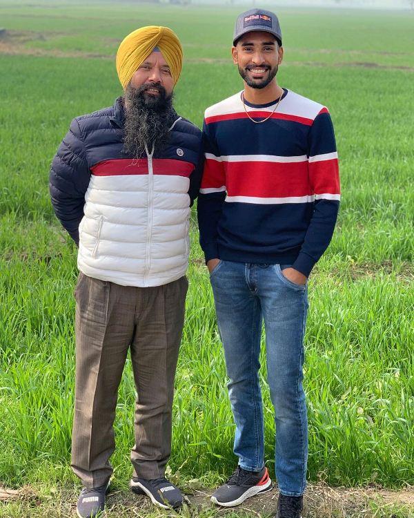 Harpreet Brar with his father, Mohinder Brar Singh