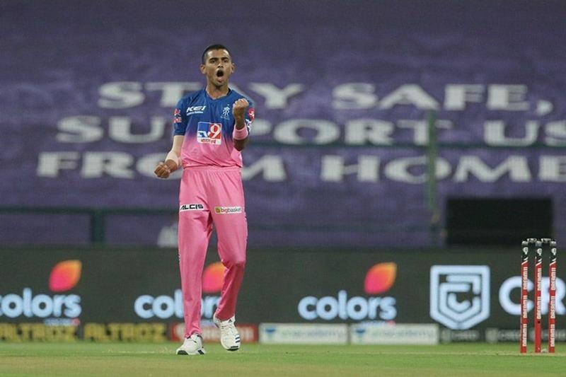 Kartik Tyagi pumped up after taking wicket on his debut IPL match