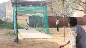 The 11 yards cemented wicket where Tyagi used to spend multiple hours every day honing his fast bowling skills