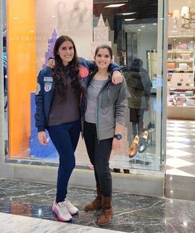 Srishti Sudhera with her sister