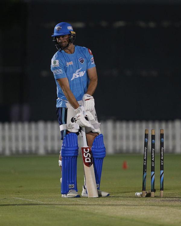 Daniel Sams practicing during the IPL 2020 season