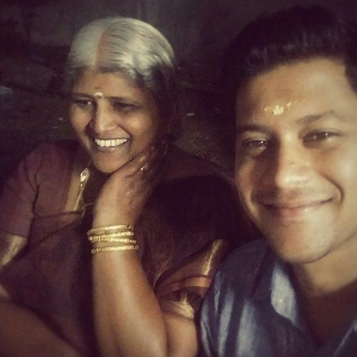 Som Shekar With His Mother