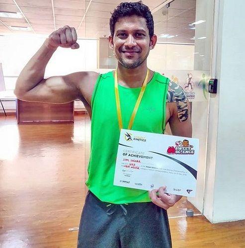 Som Shekar With His Medal