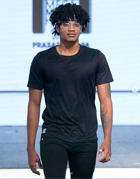 Michael Ajay walking the ramp at Phoenix Mega Model Hunt 2019