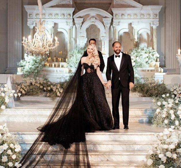 Wedding Picture of Christian Richard and Christine Quinn