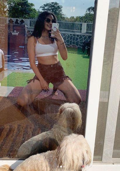 Sapna Malik and her pet dog