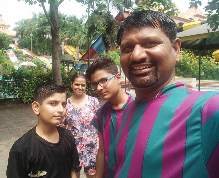 Gyanendra Purohit with his Family