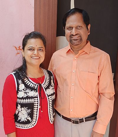 Gyanendra Purohit with his Wife