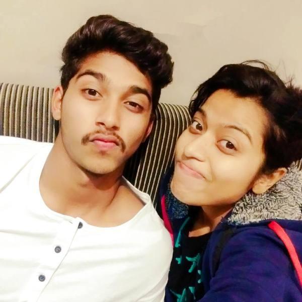 Darshan Nalkande with his elder sister