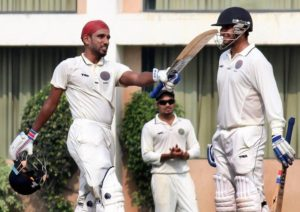 Bavanaka Sandeep after scoring a century against Goa in Ranji trophy