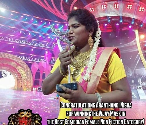 Aranthangi Nisha in a TV Show