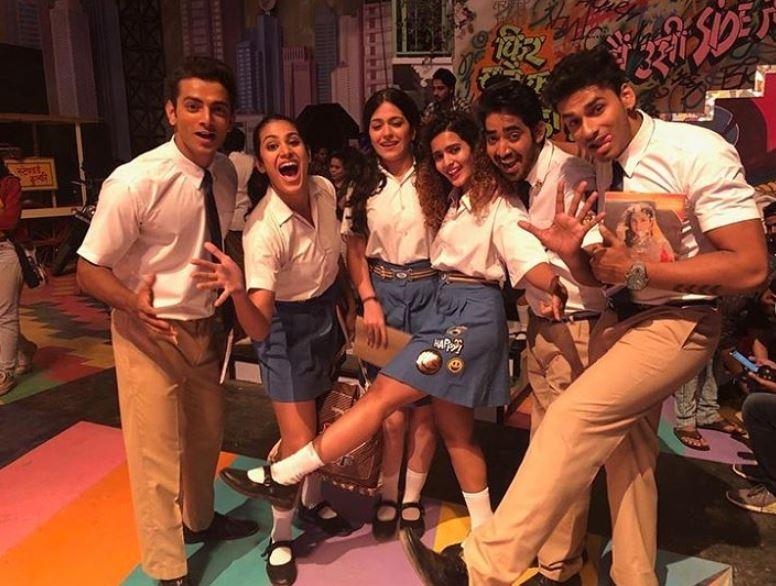 Aarushi Chawla on the sets of Love Aaj Kal (2020)