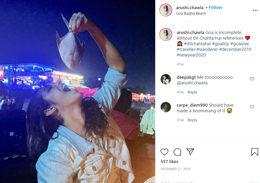 Arushi Chawla's Instagram Post