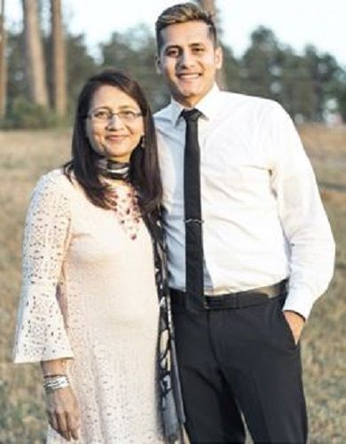 Dhaval Panchal and His Mom