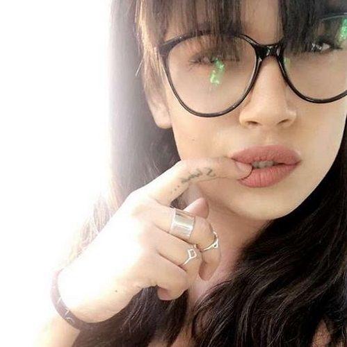 Naina Singh's Tattoo on Finger